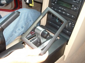 Remove the trim around gear shifter