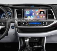 2014 2015 Toyota Highlander head unit after installation