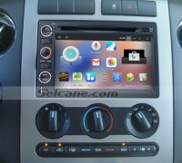 2005-2009 Ford Mustang stereo gps radio dvd after installation