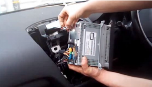 Disconnect all connectors at the back of the original car radio