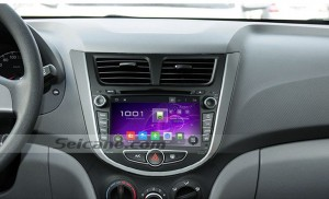 2011 2012 Hyundai Solaris gps nav head unit after installation