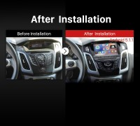 2011 Ford C Max dvd car stereo after installation