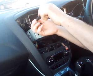 Remove screws fixed the radio