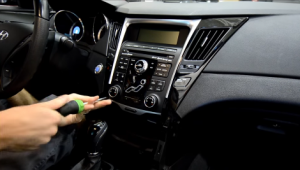 Remove screws that fixed the radio panel