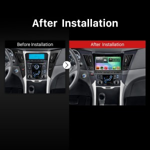 2011-2015 HYUNDAI Sonata i40 i45 Radio after installation
