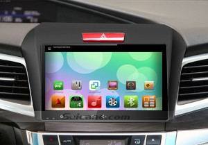 2013 2014 2015 Honda JADE Car Audio Radio GPS Navigation System after installation