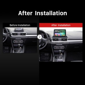 2014 2015 Mazda 3 Axela Bluetooth DVD Stereo after installation