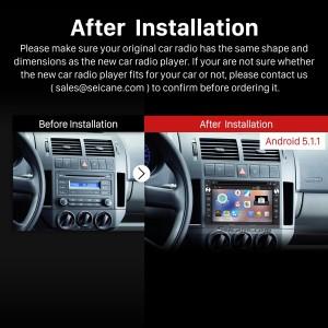 2000-2009 VW Volkswagen Polo car radio after installation