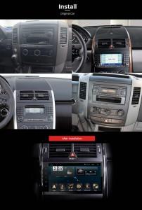 2000-2015 VW Volkswagen Crafter GPS Bluetooth Radio after installation