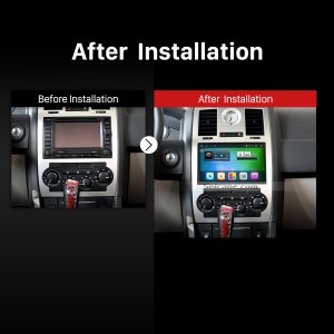 2004 2005 2006 DODGE Avenger Caliber Challenger Dakota Durango Journey Magnum car radio after installation