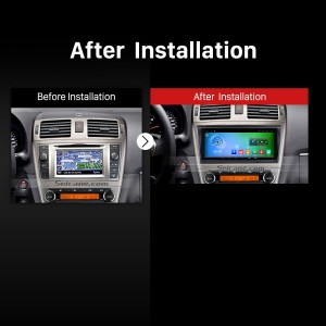 2009-2013 TOYOTA AVENSIS Radio after installation