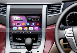 2009-2014 Toyota ALPHARD Audio Head Unit after installation