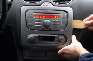 Remove the panel with a lever