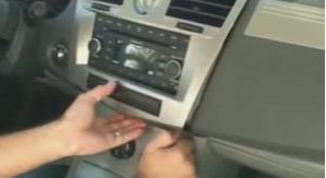 Loosen the trim panel with a lever