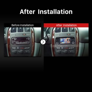 1999-2004 Jeep Grand Cherokee radio after installation