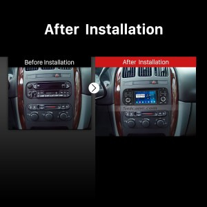 2003-2006 Jeep Wrangler car radio after installation