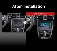 2005-2008 Porsche 911 997 gps bluetooth dvd car stereo after installation