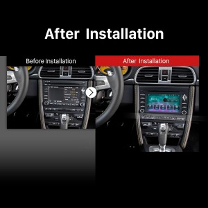 2005-2008 Porsche 911 997 gps bluetooth dvd car stereo after installation