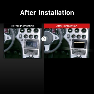 2005-2013 Alfa Romeo 159 factory radio after installation