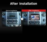 2006-2009 Ford Fusion 4-door Sedan stereo after installation
