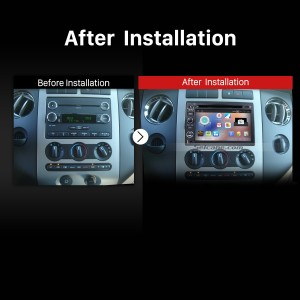 2006-2009 Ford Fusion 4-door Sedan stereo after installation