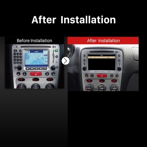 2007-2013 Alfa Romeo GT car radio after installation