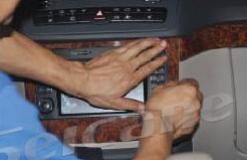 Detach the outer frame of the original car radio