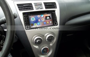 2001-2008 TOYOTA RAV4 Touch Screen Radio after installation