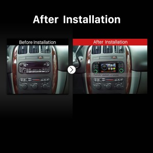 2002-2006 Dodge RAM 1500 2500 3500 Pickup Truck stereo radio after installation