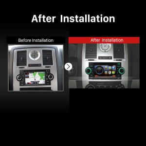 2002-2007 Dodge Caravan Charger aftermarket stereo after installation