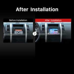 2002-2009 Kia sorento radio after installation