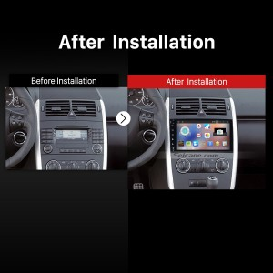 2004-2012 Mercedes Benz B Class W245 B150 B160 B170 B180 B200 B55 Car Stereo after installation