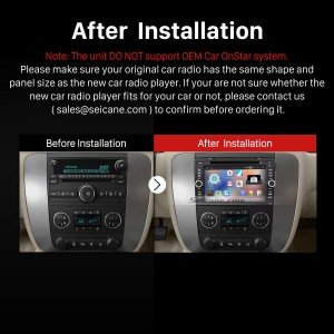 2007-2012 Buick Enclave car radio after installation