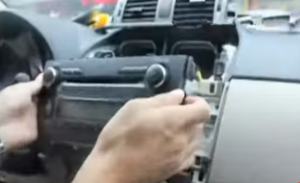 Take the original radio out of the dash
