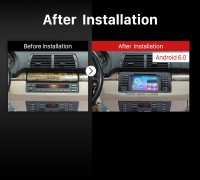 2000-2007 BMW X5 E53 3.0i 3.0d 4.4i 4.6is 4.8is GPS Bluetooth Car Radio after installation