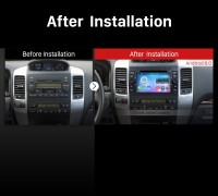 2002-2009 Toyota Prado Cruiser Car Stereo after installation