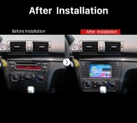 2004-2012 BMW 1 Series E81 E82 116i 118i 120i 130i GPS Bluetooth DVD after installation