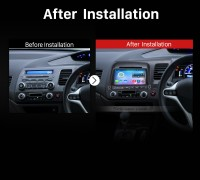 2006-2011 Honda Civic Car Stereo Radio after installation