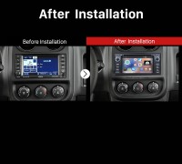 2007-2013 Jeep Wrangler Unlimited Stereo after installation