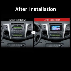 2000-2006 TOYOTA COROLLA EX Car Radio after installation