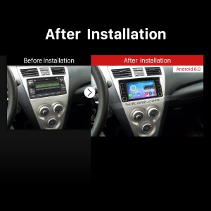 2001-2008 TOYOTA RAV4 GPS Bluetooth DVD after installation