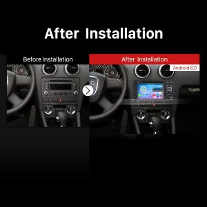 2003-2013 Audi A3 GPS Bluetooth DVD Car Radio after installation