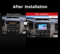 2008-2014 TOYOTA Sequoia car radio after installation
