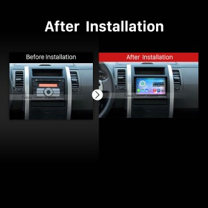 1 Din Universal (Panel Slidable) car radio after installation