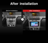 2006 2007 2008 2009 2010-2011 OPEL Corsa GPS Bluetooth Car Radio after installation