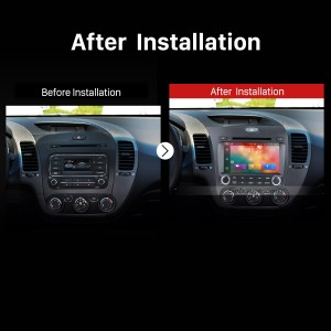 2013 2014 Kia Cerato Left GPS Bluetooth DVD Car Radio after installation