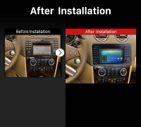 2005 2006 2007 2008 2009-2012 Mercedes Benz GL CLASS X164 GL320 Car Radio after installation