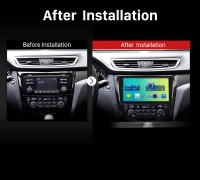 2013 2014 2015 2016 Nissan X-TRAIL Car Radio after installation
