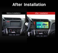 2015 Honda CITY Dashboard Car Radio after installation