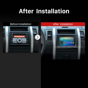 Double Din Universal GPS Bluetooth DVD Car Radio after installation
